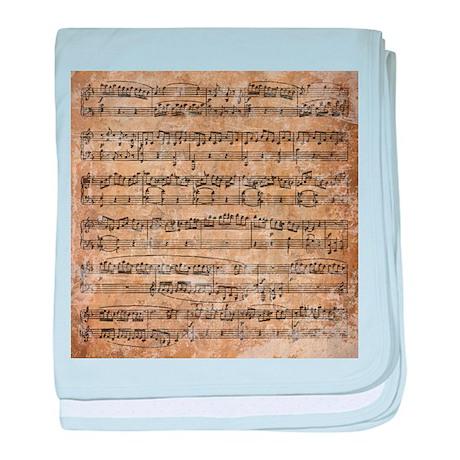 Vintage Sheet Music baby blanket