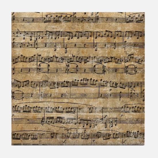 Vintage Sheet Music Tile Coaster