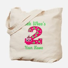 2nd Birthday Girl Owl Tote Bag