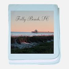 Folly Beach, SC Pier baby blanket