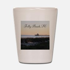 Folly Beach, SC Pier Shot Glass