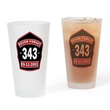 Never Forget 343 Drinking Glass