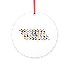 Spanish Stars and Windmills P Ornament (Round)
