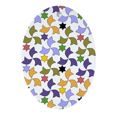 Spanish Stars and Windmills P Ornament (Oval)