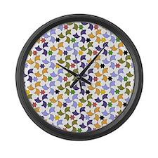 Spanish Stars and Windmills P Large Wall Clock
