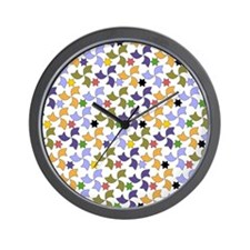 Spanish Stars and Windmills P Wall Clock
