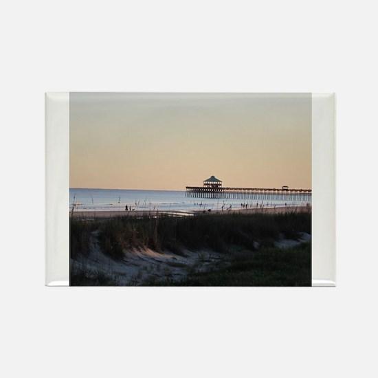 Folly Beach, SC Pier Rectangle Magnet
