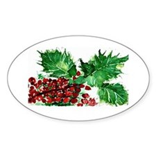 Holly, Oval Decal