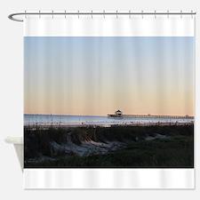 Folly Beach, SC Pier Shower Curtain