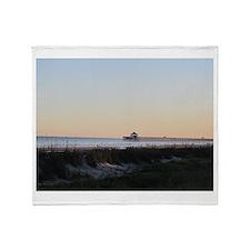 Folly Beach, SC Pier Throw Blanket