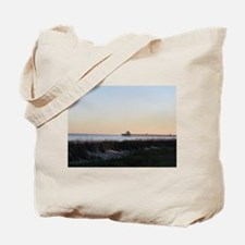 Folly Beach, SC Pier Tote Bag
