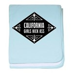 California Girls Kick Ass baby blanket