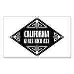 California Girls Kick Ass Sticker (Rectangle 10 pk