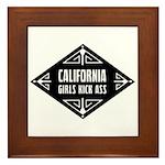 California Girls Kick Ass Framed Tile