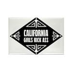 California Girls Kick Ass Rectangle Magnet