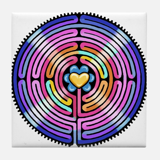 Labryinth Tile Coaster