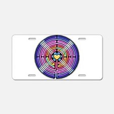Labryinth Aluminum License Plate