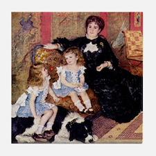 Renoir Family Dog Tile Coaster