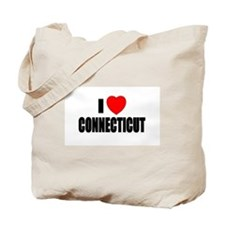 Cute I love connecticut Tote Bag