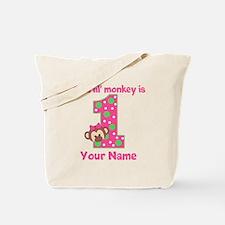 1st Birthday Monkey Girl Tote Bag