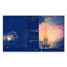 Paris Fireworks Rectangle Decal