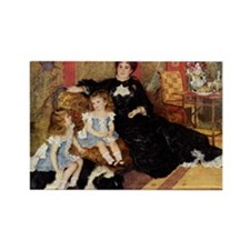 Renoir Family Dog Rectangle Magnet