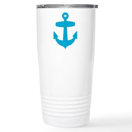 Blue Anchor Stainless Steel Travel Mug