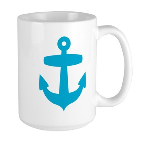 Blue Anchor Large Mug