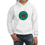 peace love twins Hooded Sweatshirt