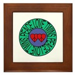 peace love twins Framed Tile