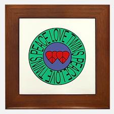 peace love twins Framed Tile