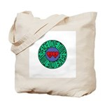 peace love twins Tote Bag
