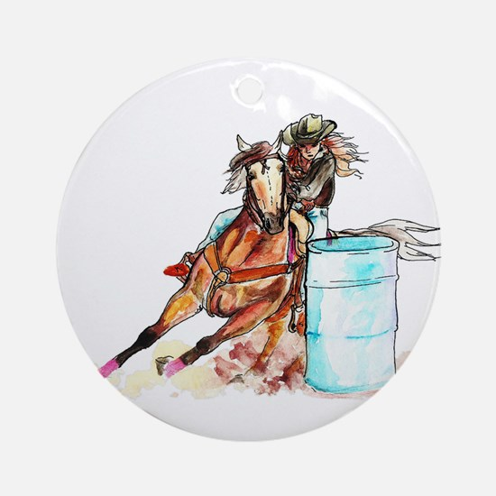 Barrel Racer Ornament (Round)