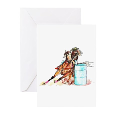 Barrel Racer Greeting Cards (Pk of 10)