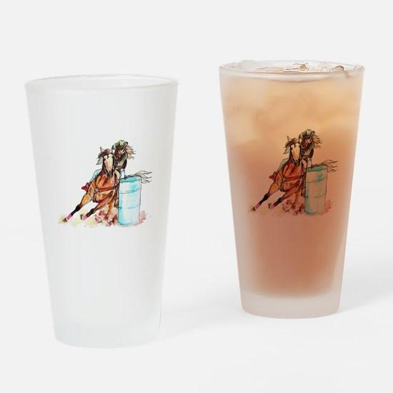 Barrel Racer Drinking Glass