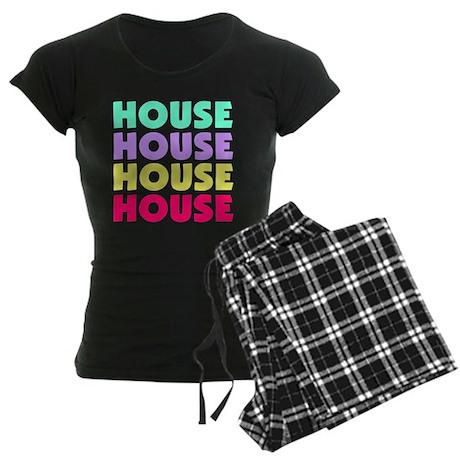 House Pastel Women's Dark Pajamas