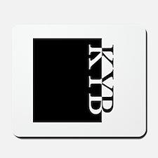 KYB Typography Mousepad