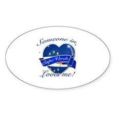 Cape Verde Flag Design Sticker (Oval)