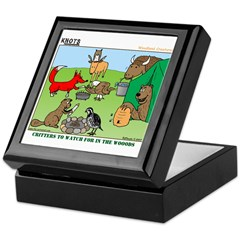 KNOTS Woodland Creatures Cartoon Keepsake Box