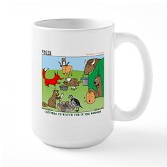 KNOTS Woodland Creatures Cartoon Large Mug