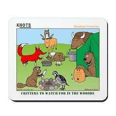 KNOTS Woodland Creatures Cartoon Mousepad