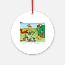 KNOTS Woodland Creatures Cartoon Ornament (Round)