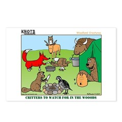 KNOTS Woodland Creatures Cartoon Postcards (Packag