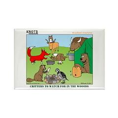 KNOTS Woodland Creatures Cartoon Rectangle Magnet