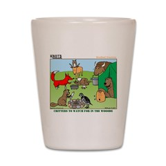 KNOTS Woodland Creatures Cartoon Shot Glass