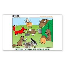 KNOTS Woodland Creatures Cartoon Bumper Stickers