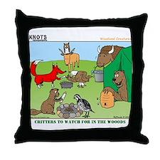 KNOTS Woodland Creatures Cartoon Throw Pillow