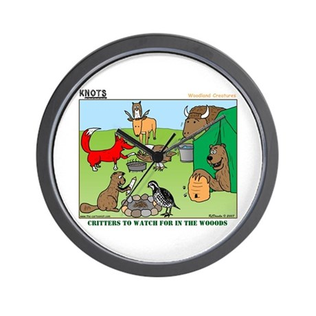 KNOTS Woodland Creatures Cartoon Wall Clock