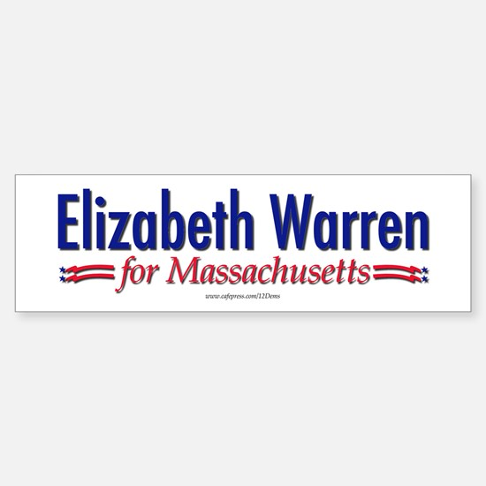 """Elizabeth Warren for MA"" Bumper Bumper Sticker"