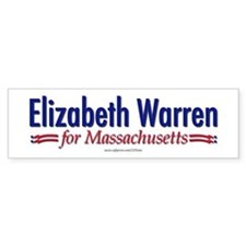 """Elizabeth Warren for MA"" Bumper Sticker"